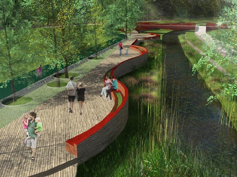 Проект реконструкции моста с благоустройством прилегающей территории